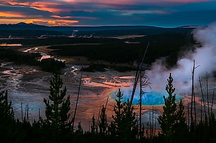 Yellowstone National Park at sunset. Image credit: Kris Wiktor/Shutterstock