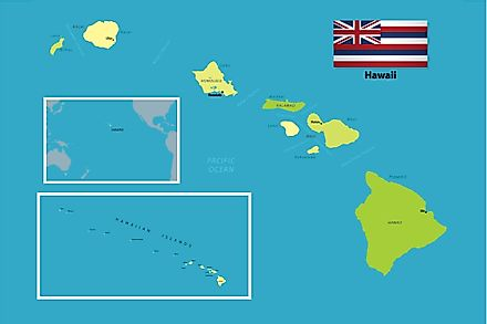 Hawaii sits in the Pacific Ocean.