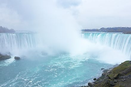 Niagara falls is one of the most impressive waterfalls in the world.