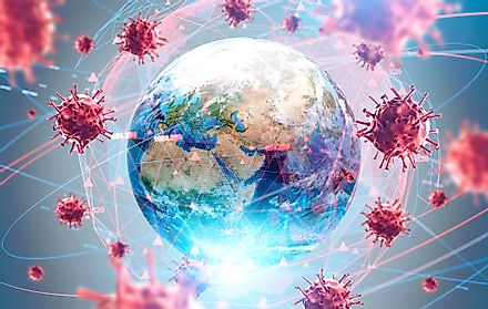 "The World Health Organization's definition of a pandemic is ""the worldwide spread of a new disease"". The new disease is infectious and contagious. Image credit: ImageFlow/Shutterstock.com"