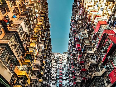 Hong Kong is famous for its residential density.