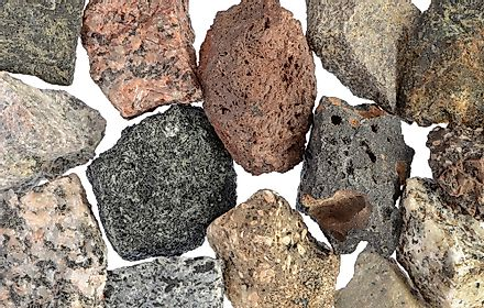 A collection of igneous rocks.
