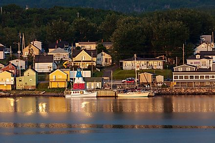View of Cheticamp in Cape Breton, Nova Scotia.