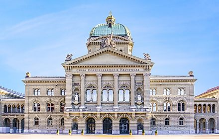 The Federal Palace of Switzerland in Bern.