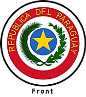 Paraguay coat of arms front side