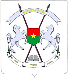 The National Coat of Arms of Burkina Faso