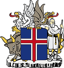 National Coat of Arms of Iceland