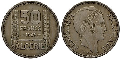 French Algeria coin 50 fifty francs 1949