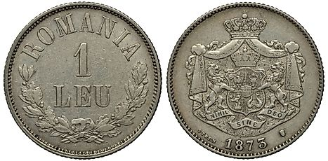 Romanian 1 leu Coin