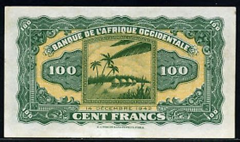 French West African 100 franc Banknote