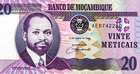 Mozambican 20 meticais Banknote