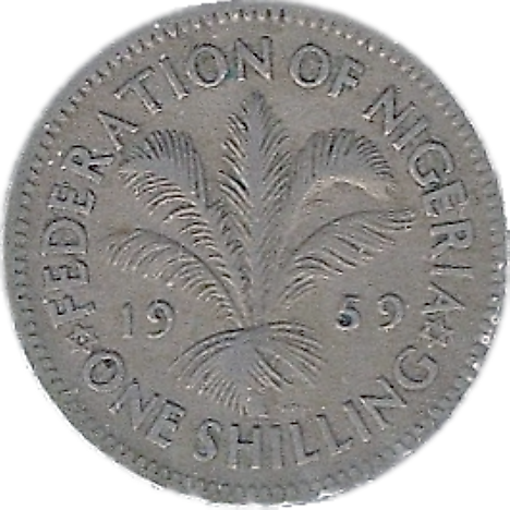 Nigerian pound 1 shilling Coin