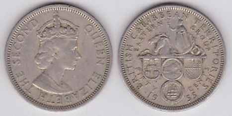 British West Indies dollar 50 cents Coin