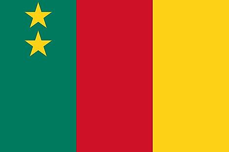 Flag of the Federal Rep. of Cameroon (1961–1975)