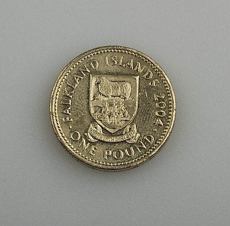 One pound coin of the Falkland Islands