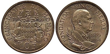 Monegasque 10 francs Coin