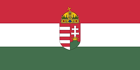Flag of the Kingdom of Hungary from 1896 to 1915.
