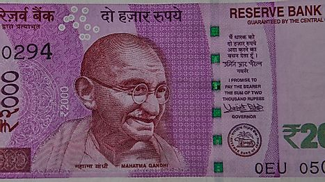 Indian Currency Note of 2000 rupees