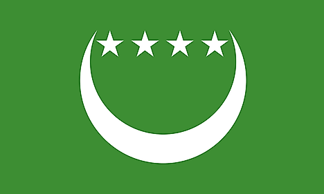 Flag of the Federal and Islamic Republic of the Comoros (1992-1996)