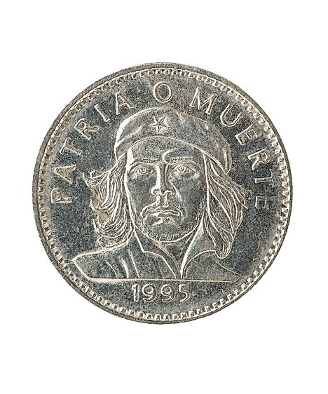 Cuban peso coin with portrait of Che Guevara