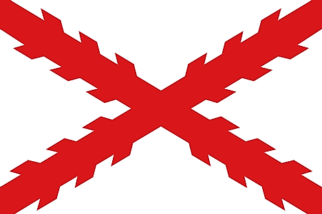Colonial flag used by the Spanish Empire in Peru, and Bolivia. Image credit: Ningyou./Wikimedia.org
