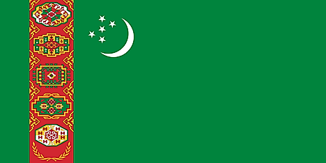Green flag with a slightly different symbol