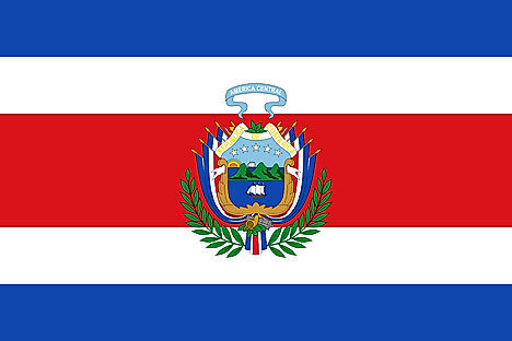 Flag of Costa Rica (1848 to 1906)