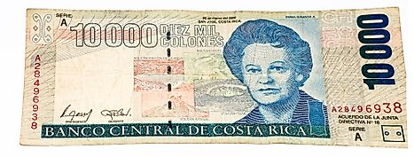 10000 Costa Rican colones bank note.