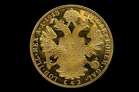 An old coin of Austrian krone