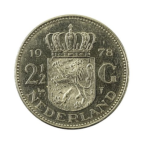 2,5 dutch guilder coin (1978)