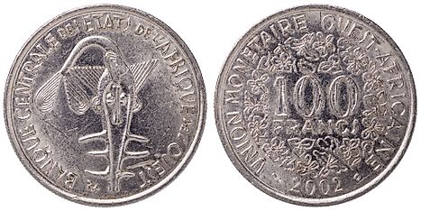 West African CFA 100 franc Coin