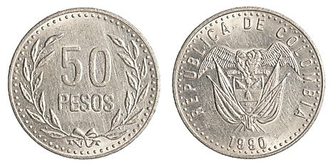 Colombian 5 peso Coin