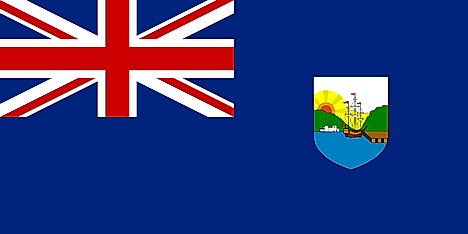 Flag of the colony of Dominica, 1955-1965.