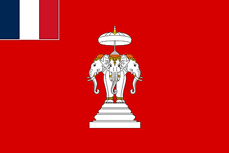 Flag of Luang Prabang as the French Laos Protectorate (1893-1947)
