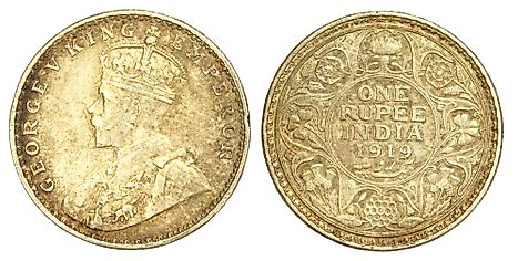 British Indian 100 rupee Coin