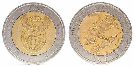 South African 5 rand coin