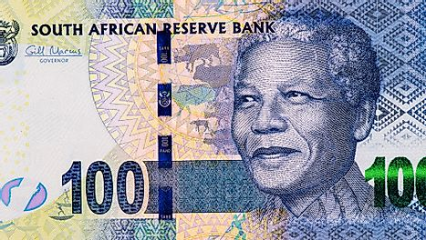 Nelson Rolihlahla Mandela., Portrait from South Africa 100 rand Banknotes.