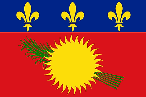 Locally used unofficial flag of Guadeloupe