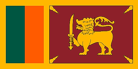 Flag of Dominion of Ceylon (Republic)