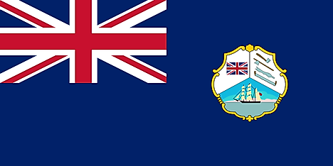 Flag of British Honduras/Belize used from 1919 to 1981