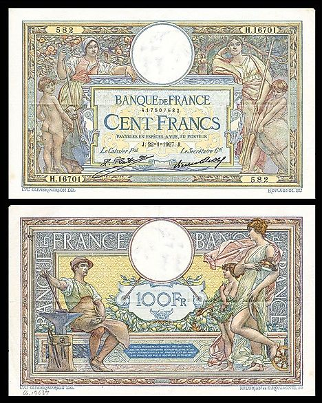 French 100 francs Banknote (1927)