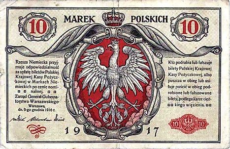 Polish 10 mark Banknote