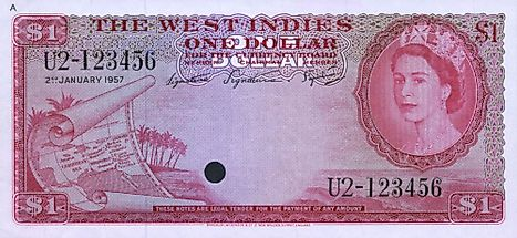 British West Indies 1 dollar Banknote