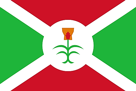 Former Flag of Burundi from 1962 to 1966.