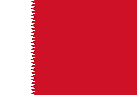 Bahrain flag used from 1932 to 1972.