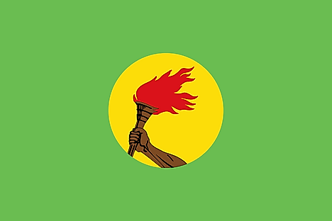 Flag of Zaire used from 1971 to 1997