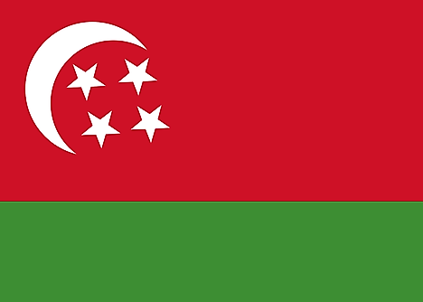 Flag of the State of the Comoros under the Ali Soilih Regime (1976-1978)