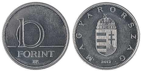Hungarian 10 forint coin