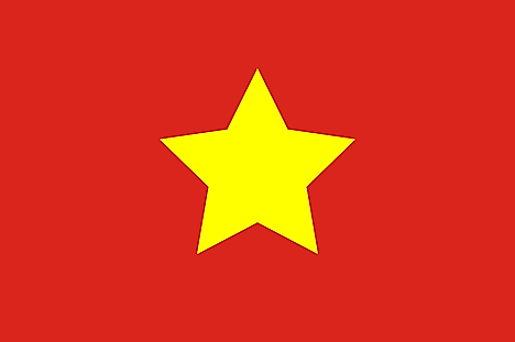 Large yellow star centered on red field