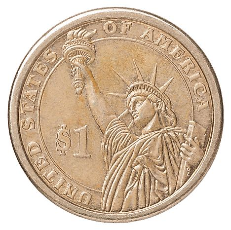 $1 USD Coin - USD is the official currency in Palau